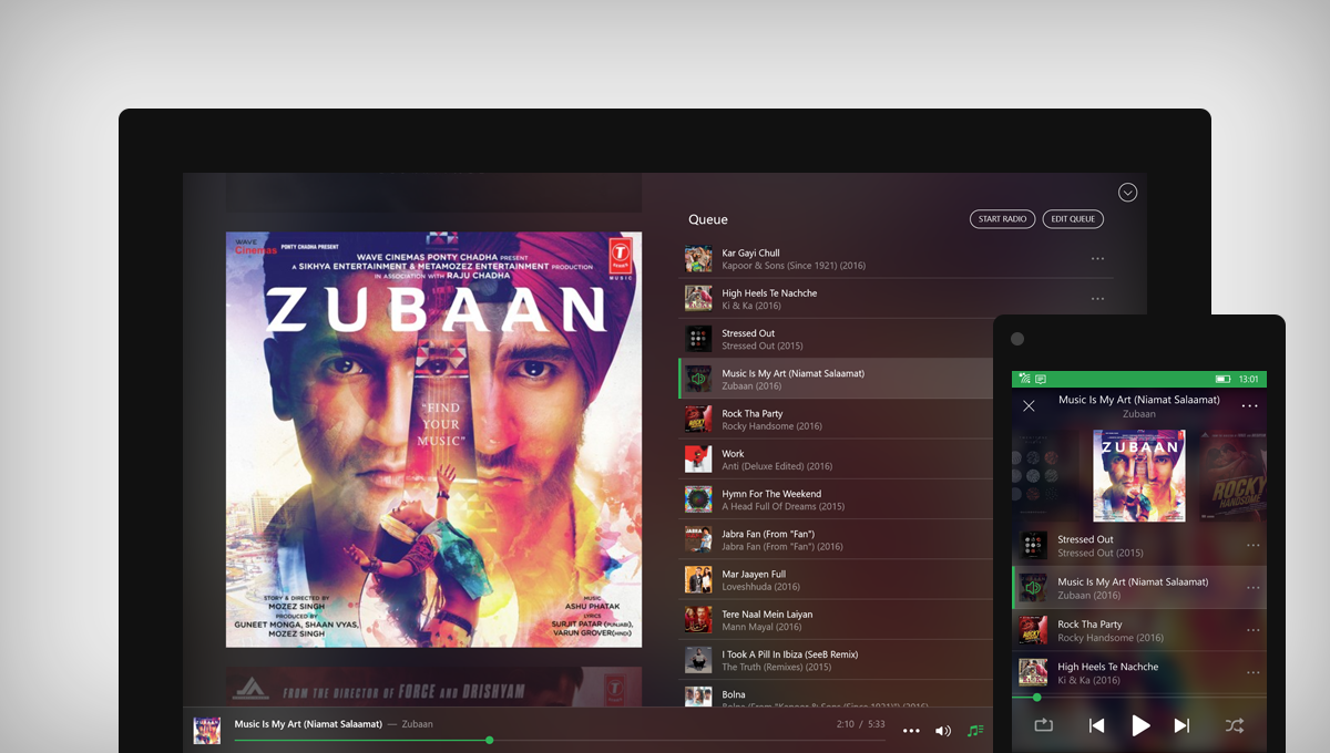 Saavn for Windows 10